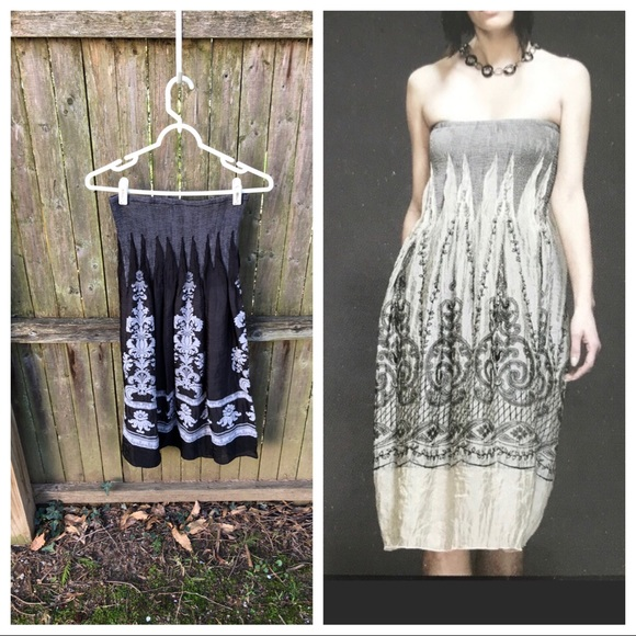 Anthropologie Dresses & Skirts - Anthropologie Lapis convertible skirt dress one sz